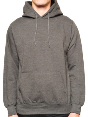 5108 Heather-Charcoa Classic Pullover Hoodies (Heavy Weight)