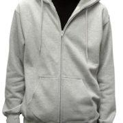 5109 Heather-Grey Premium Full Zip Hoodies