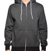 5407 BLACK SALT & PEPPER FULL ZIP HOODIES