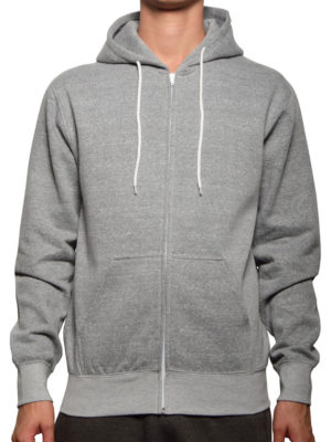 5407 Heather-Grey Salt & Pepper Full Zip Hoodies