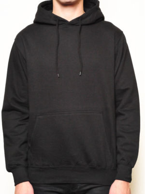 Black Pullover Wholesale Hoodies (Medium Weight)