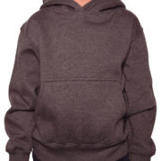 Y300 Eather-Charcoal Youth Pullover Hoodies